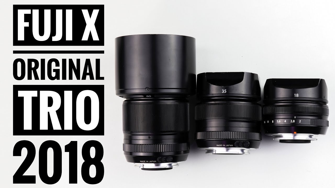 Fuji X Series Original Trio In 2018 18mm F2 35mm F14 60mm F24 Fujifilm T100 Body Xf35mm Black Kamera Mirrorless