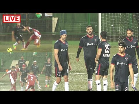 LIVE | Ranbir kapoor, Arjun Kapoor And Other Bollywood Clebs Playing Aggressive  FOOTBALL