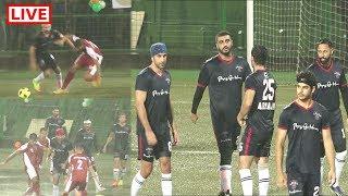 LIVE   Ranbir kapoor, Arjun Kapoor And Other Bollywood Clebs Playing Aggressive  FOOTBALL