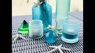 Diy Decorative Sea Glass Bottles, Votives And Vases