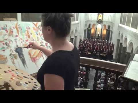 Dona nobis pacem from the Petite messe solennelle by Rossini with live painting