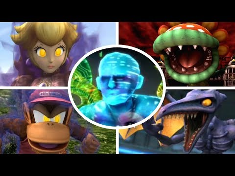 Super Smash Bros Brawl - All Bosses + Cutscenes (No Damage)