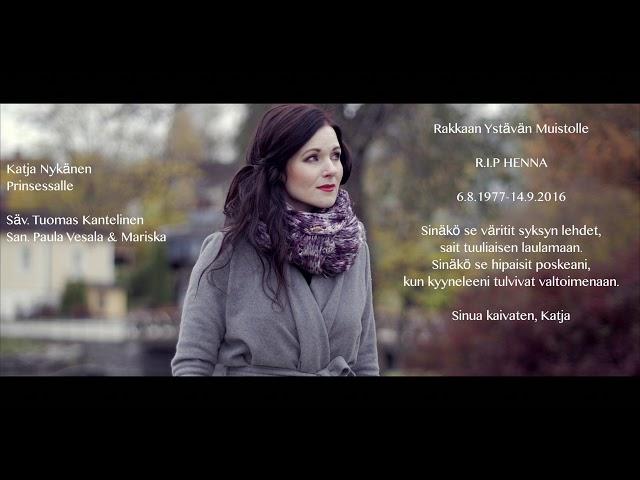 Katja Nykänen -Prinsessalle (Johanna Kurkela cover)