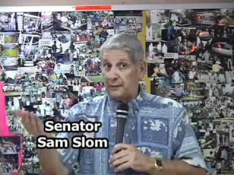 Rep. Marumoto and Senator Sam Slom discuss Gensiro Kawamoto