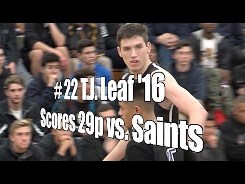 T.J. Leaf '16 Scores 27 vs. Saints, UA Holiday Classic Quarterfinal, 12/28/15