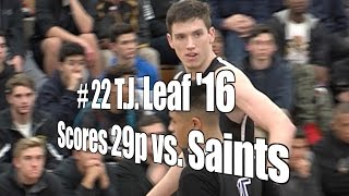 T.J. Leaf '16 Scores 27 vs. Saints, UA Holiday Classic Quarterfinal, 12/28/15