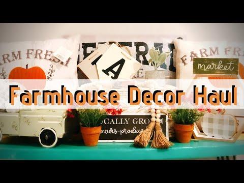 FARMHOUSE HOME DECOR HAUL   THRIFT STORE, TJ MAXX, TARGET, HOBBY LOBBY, DOLLAR GENERAL   FALL DECOR