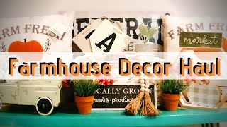 FARMHOUSE HOME DECOR HAUL | THRIFT STORE, TJ MAXX, TARGET, HOBBY LOBBY, DOLLAR GENERAL | FALL DECOR