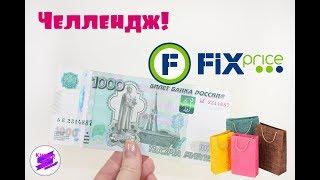 Челлендж. Закупилась в Фикс Прайс на 1000 рублей!!