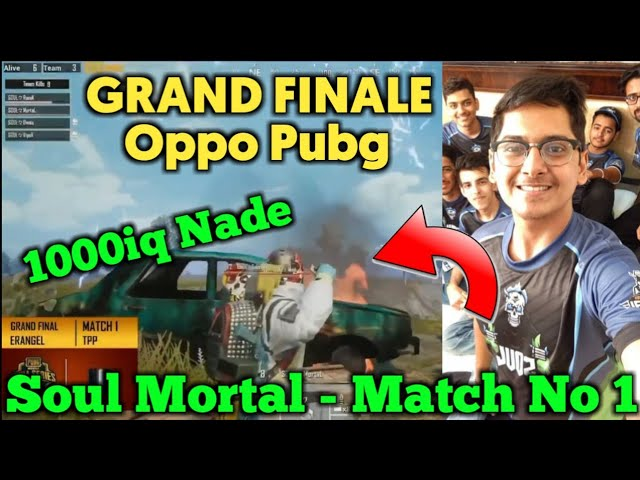Rawknee Commentary - Soul Mortal 1000iq Plus Nade | Winner Of First Round - OPPOxPUBG Series Final