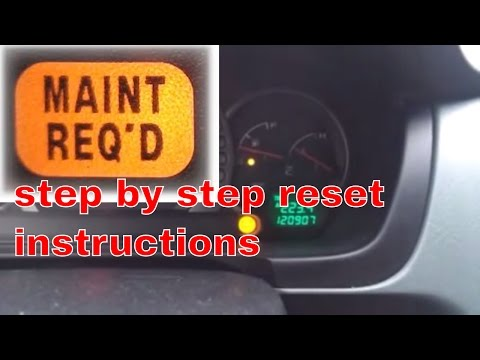 2004 Honda Pilot maint required oil light reset