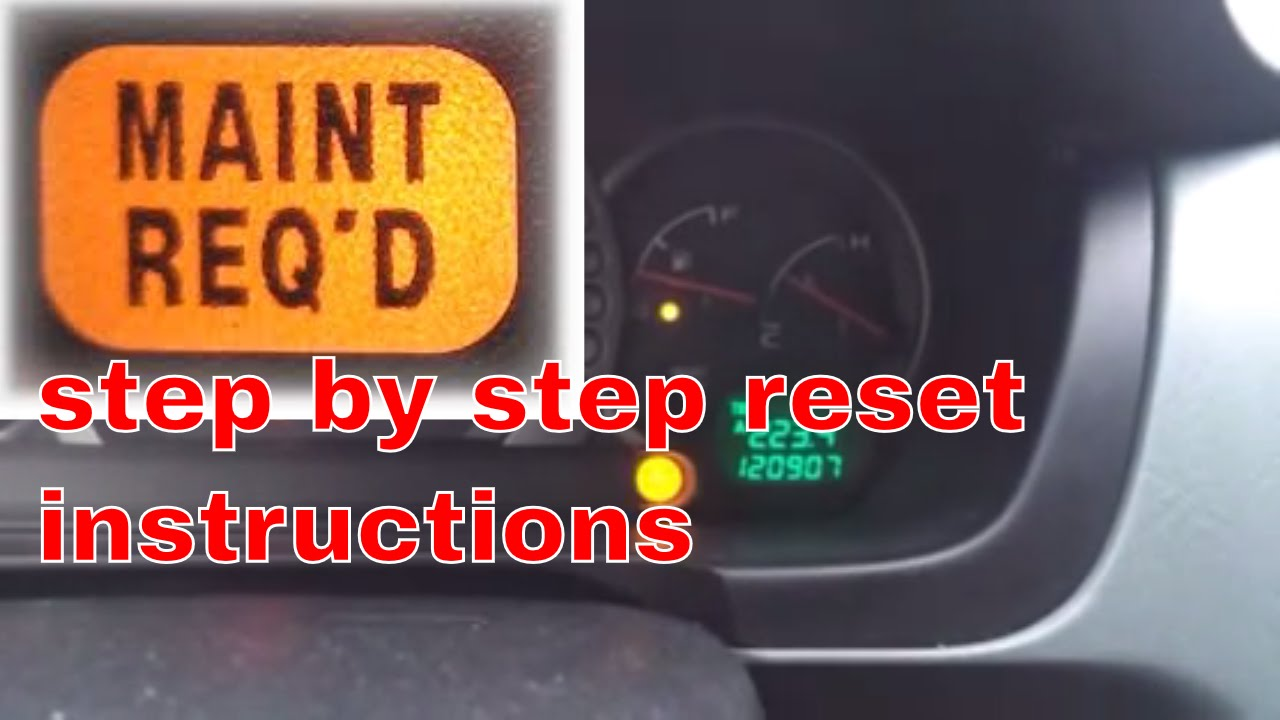 2004 Honda Pilot maint required oil light reset  YouTube