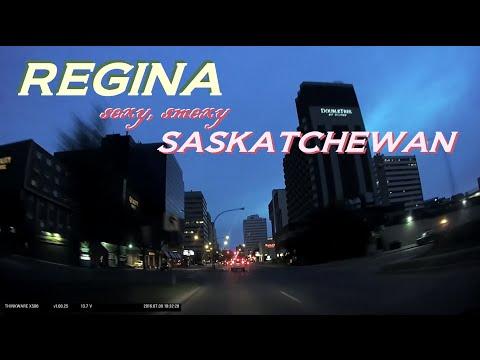 Time Lapse: An Evening Drive through Regina, Saskatchewan