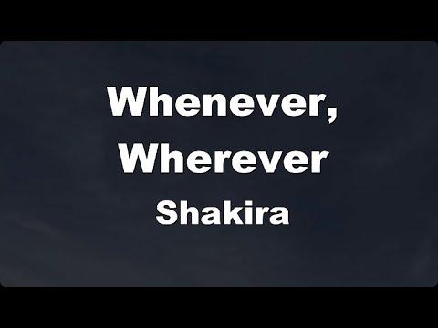 Karaoke Whenever Wherever Shakira No Guide Melody Instrumental Youtube