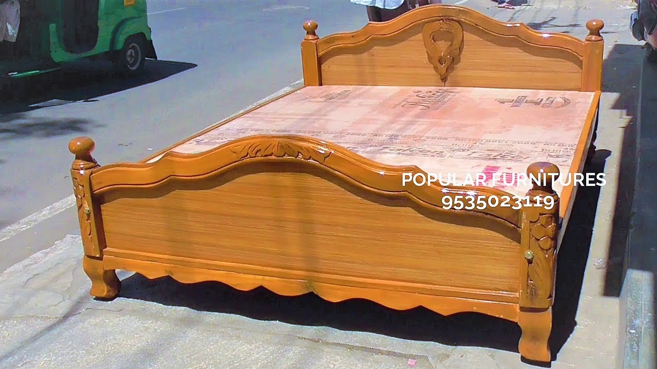 Wooden bed king and queen size design beds available in for Mobilia king size bed