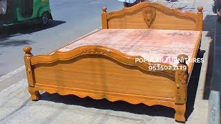 Wooden Bed King and Queen Size Design Beds Available in Popular Furnitures.Pakkah Indians