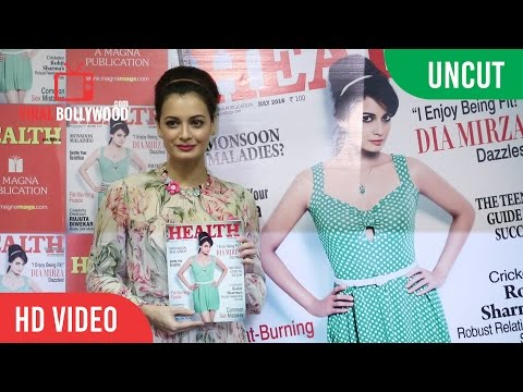 UNCUT  - Dia Mirza Health & Nutrition Magazine Cover Launch