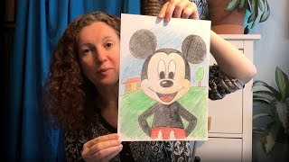 Mickey Mouse Portrait Drawing