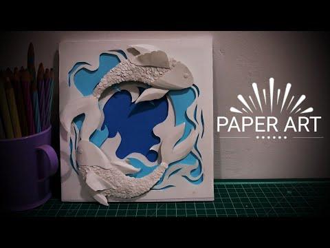 Paper Cut Out Art  - Tutorial Video