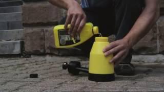 Очистка каменной облицовки средством Karcher 3в1