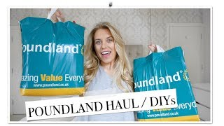 HUGE POUNDLAND HAUL APRIL / MAY 2018 | DIY & HOME DECOR IDEAS | Freya Farrington