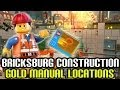 Bricksburg Construction - Gold Manual/ Instruction Locations (The Lego Movie Video Game)
