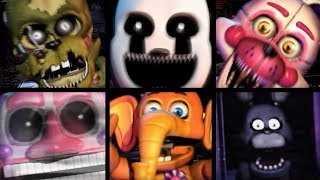 TODOS OS JUMPSCARES DA ULTIMATE CUSTOM NIGHT DE FNAF - HUEstation