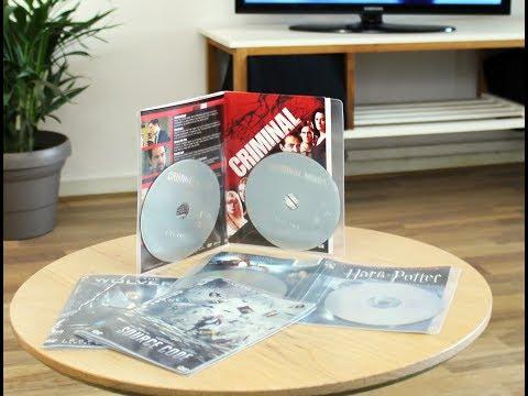 Dobbelt DVD opbevaringslomme - 50 stk.
