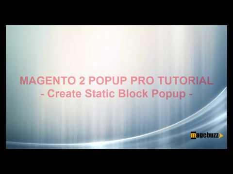 Magento 2 Popup Plus Tutorial - How to Create Popup Static Block