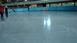 恵那クリスタルパークのスケートリンクを1週