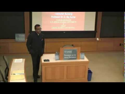 """[Lecture] """"India's Challenges for Globalizing Legal Education"""" - Dr. C. Raj Kumar @ Harvard"""