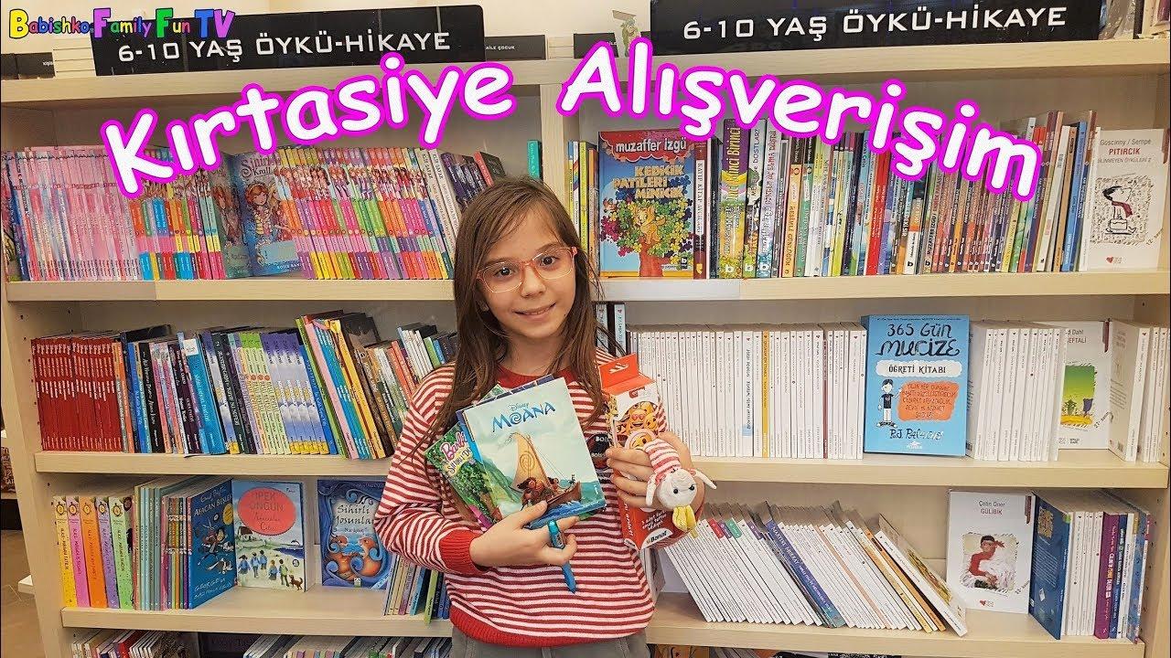 Kırtasiye Alışverişinde hangi hikaye kitaplarını ve neler aldık? Eğitici ve Eğlenceli Çocuk Videosu