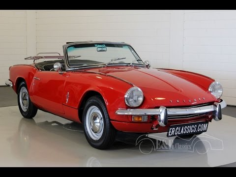 triumph spitfire mk3 cabriolet 1968 signal red in good condition video. Black Bedroom Furniture Sets. Home Design Ideas