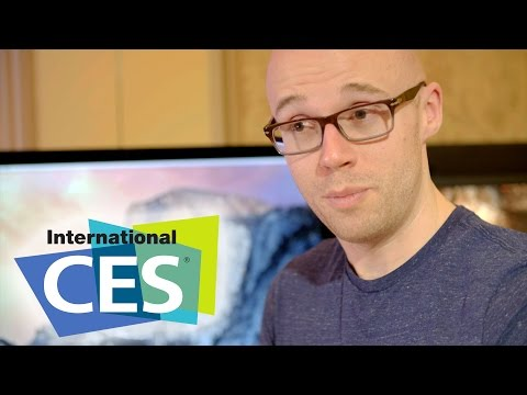 Robert gets up close and personal with Apple's 5K Retina Display #CES2015