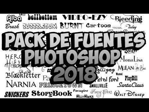 Cómo descargar Mega Gran Pack de Fuentes/Letras/Fonts para Windows (y  Photoshop) 2018