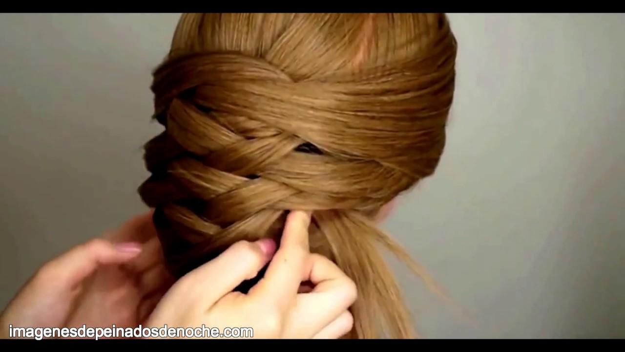Peinados Elegantes De Noche Cabello Largo Recogido Youtube