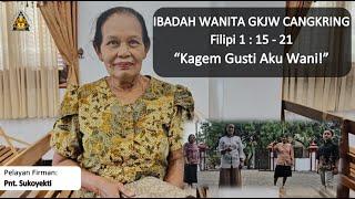 Kagem Gusti Aku Wani - Ibadah Wanita 29 September 2020 || GKJW Cangkring