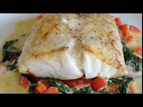 Red Pepper Fish Florentine
