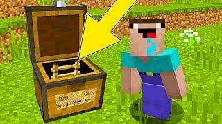 Minecraft Battle - NOOB vs PRO : NOOB FOUND SECRET ENTRANCE IN CHEST! (Animation)