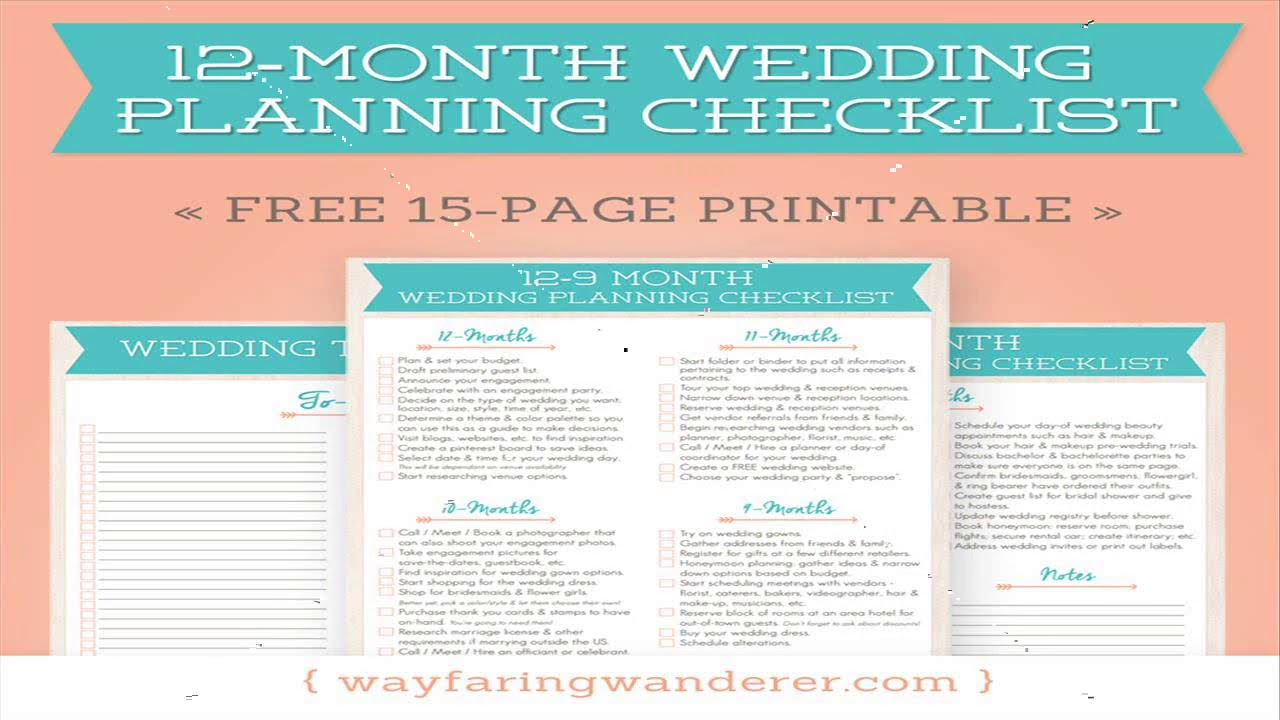 simple wedding planning checklist pdf