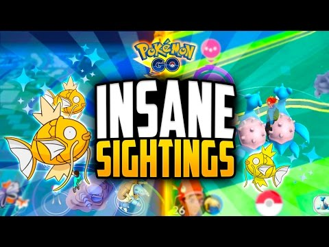 Pokemon Go - The Top 10 BEST POKEMON GO SIGHTINGS! (INSANE 1 IN 160,000 SHINY SIGHTING!)