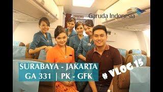 Terbang Malam Bersama Garuda Indonesia GA 331 Surabaya - Jakarta PK - GFK # VLOG 15