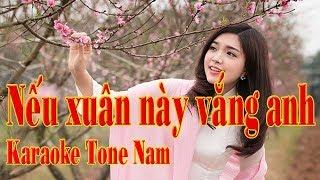 Karaoke Nếu xuân này vắng anh Tone NAM