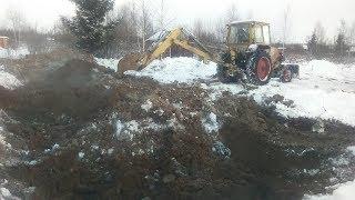 Копаем пруд зимой в минус 22! разведения рыбы и выращивания нимфей (кувшинок), эпизод 1.