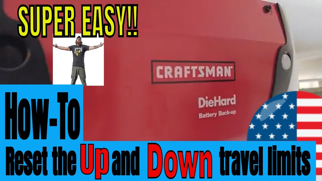 Craftsman Garage Door Opener Travel Settings Easy How To Video Youtube