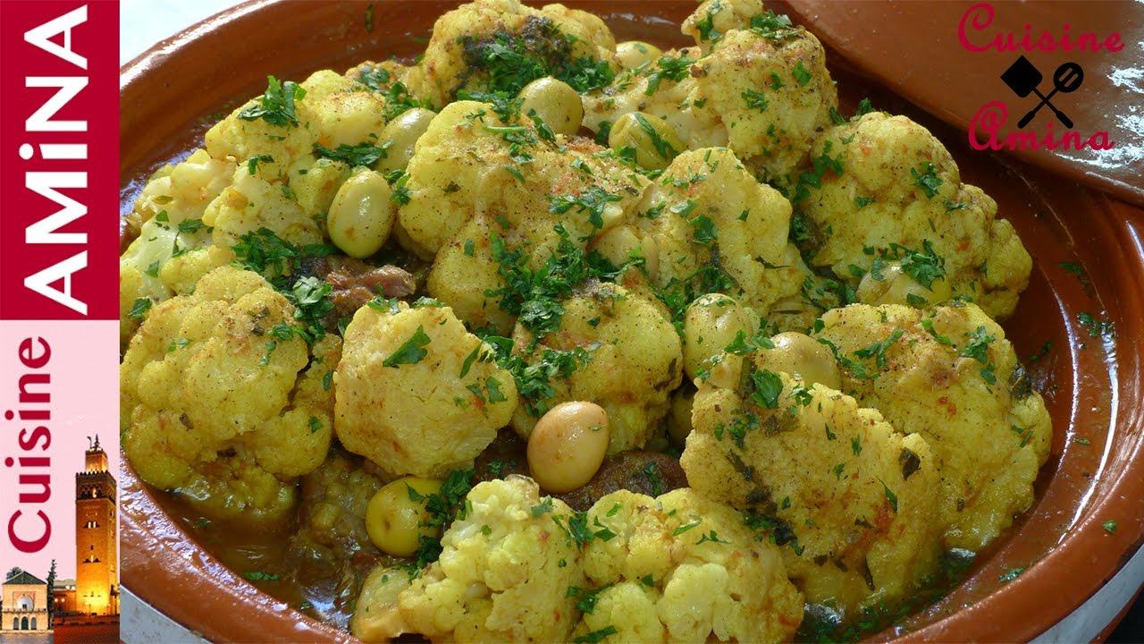 3343d1ded  الطبخ المغربي : طريقة تحضير طاجين الشيفلور أو القرنبيط المميز رائع و لذيذ  - YouTube