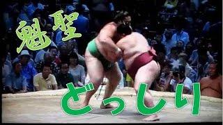 【大相撲】魁聖、御嶽海をどっしり組み止め寄り切る Sumo Kaisei vs Mit...