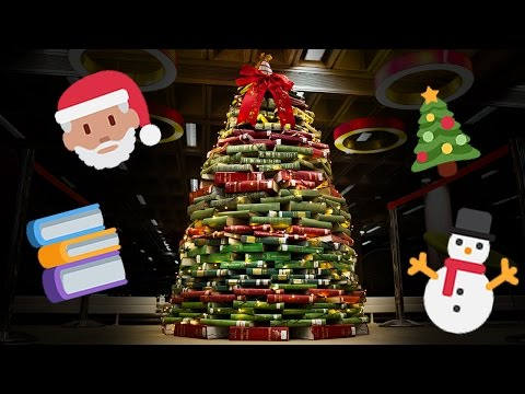 We Made Christmas Tree Out Of Books Timelapse