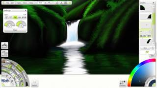 Speed painting » Waterfall ArtRage