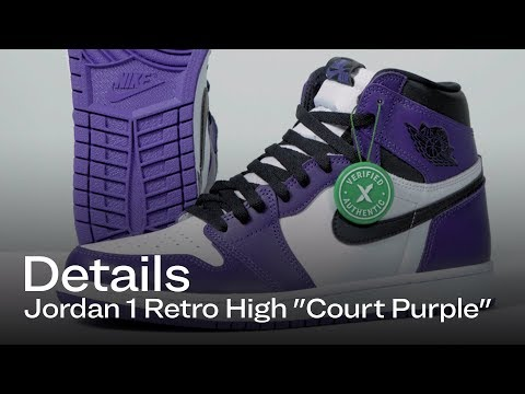 Jordan 1 Court Purple  Details   StockX